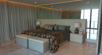 Bed with Nightstands